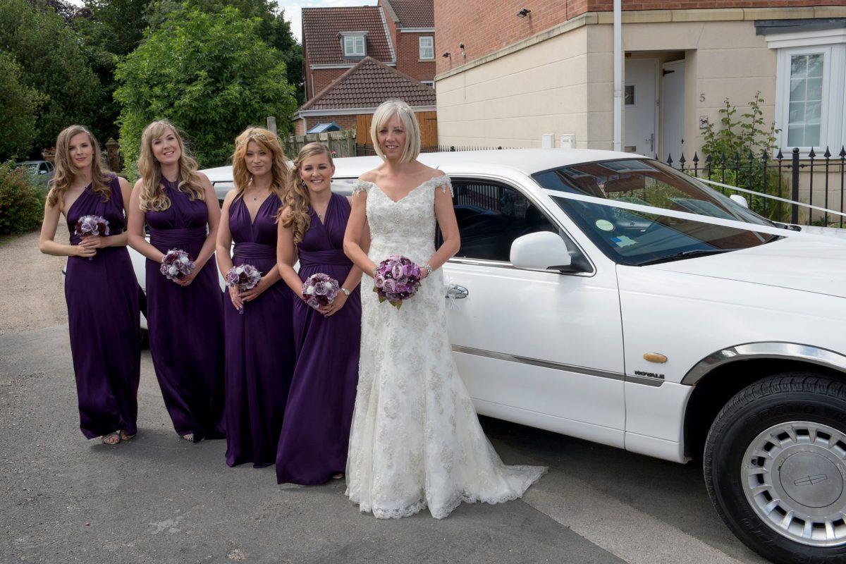 White Wedding Car West Yorkshire