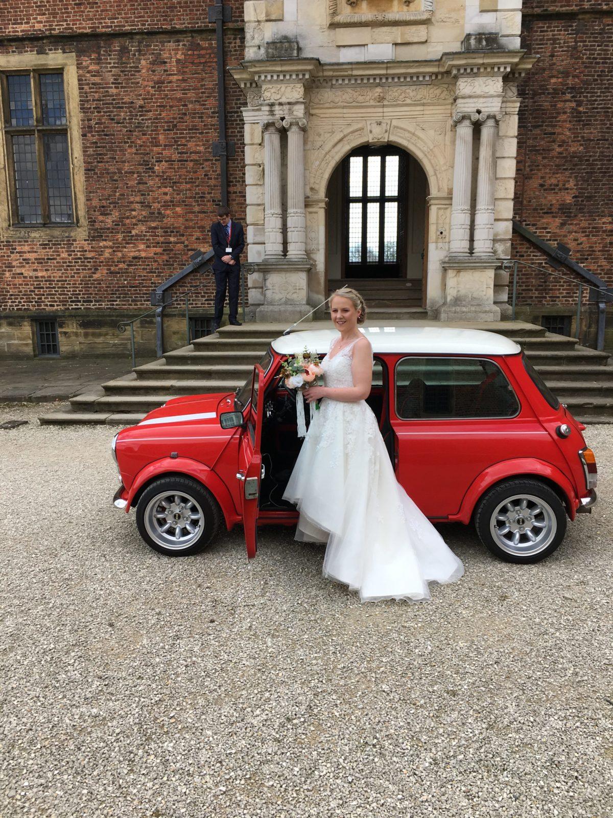 mini cooper wedding car hire